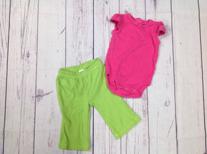 Carters LIGHT PINK & GREEN 2 PC Outfit