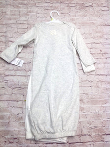 Carters Light Gray Gown