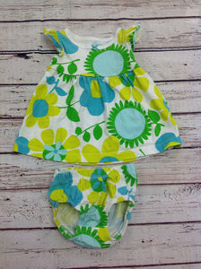 Carters Lime & Green Dress