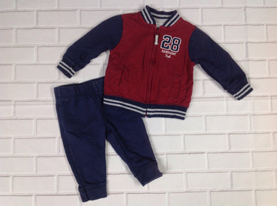Carters Maroon & Navy 2 PC Outfit