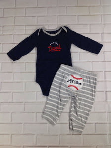 Carters NAVY & GRAY 2 PC Outfit