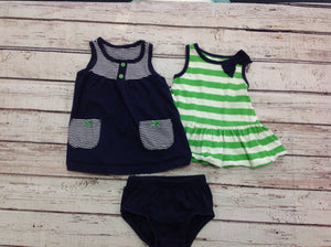 Carters NAVY & GREEN 3 PC Outfit