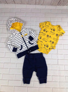 Carters NAVY & YELLOW 3 PC Outfit