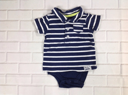 Carters Navy & White Top