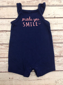 Carters Navy Print One Piece