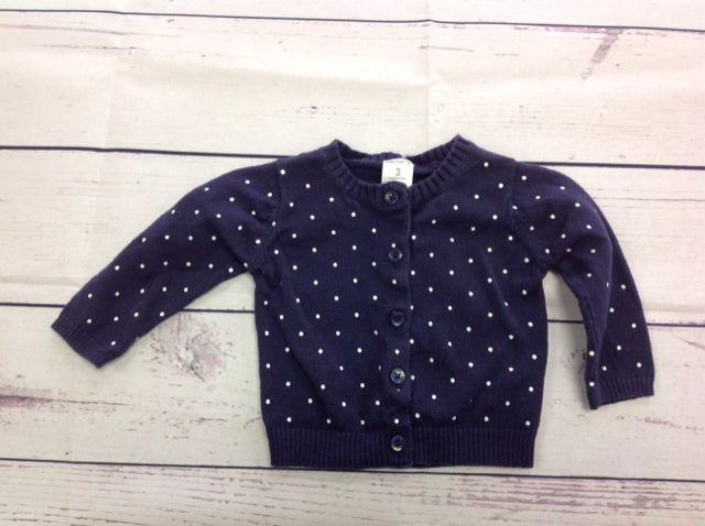 Carters Navy Print Sweater