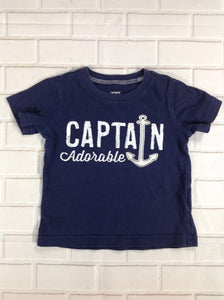 Carters Navy Print Top