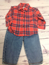 Carters Orange & Blue 2 PC Outfit