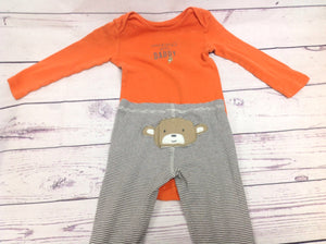 Carters Orange Print 2 PC Outfit