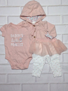 Carters PINK PRINT 3 PC Outfit