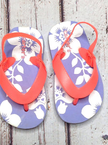 Carters PURPLE & CORAL Sandals