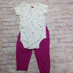 Carters PURPLE & WHITE 2 PC Outfit