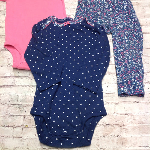 Carters Pink & Blue 3 PC Outfit