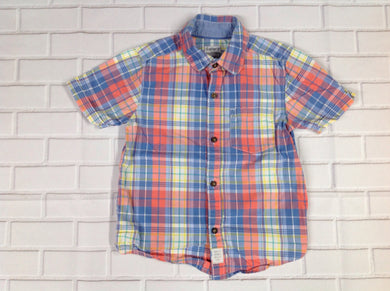 Carters Pink & Blue Plaid Top