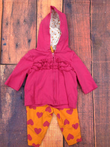 Carters Pink & Orange 2 PC Outfit