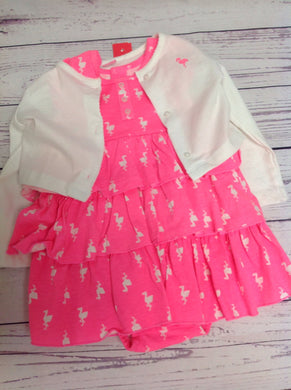 Carters Pink & White 2 PC Outfit