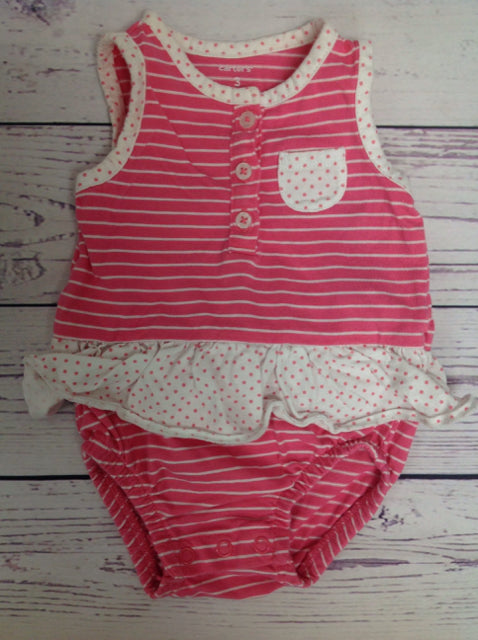 Carters Pink & White One Piece