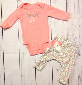 Carters Pink 2 PC Outfit