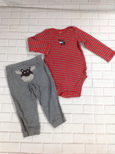 Carters RED & GRAY 2 PC Outfit