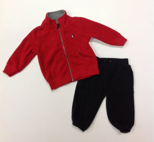 Carters Red & Black Penguin 2 pc set