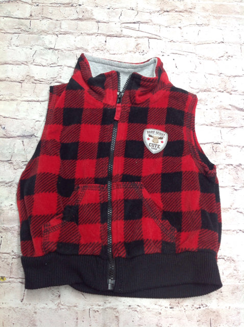 Carters Red & Black Top