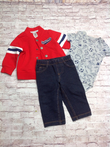 Carters Red & Blue 3 PC Outfit
