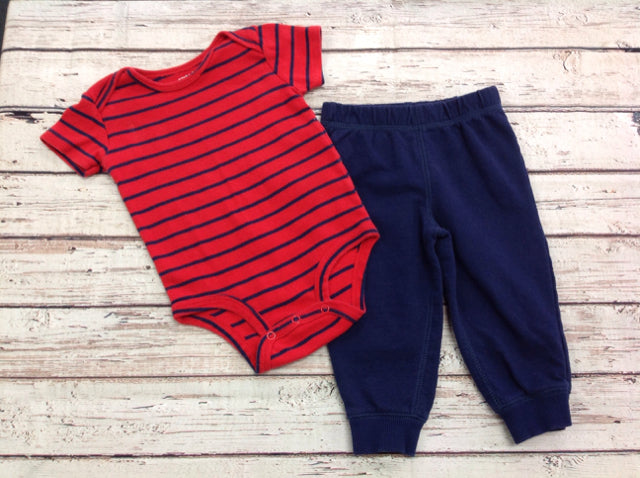 Carters Red & Navy 2 PC Outfit