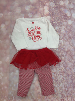 Carters Red & White 2 PC Outfit