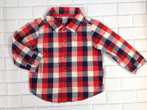 Carters Red & White Checkered Top