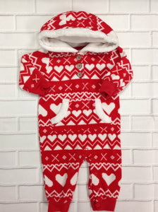 Carters Red & White One Piece