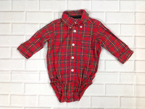Carters Red Print Top