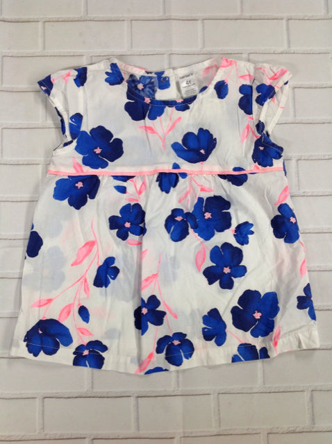 Carters WHITE & BLUE Floral Top