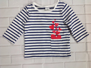 Carters White & Navy Sweater