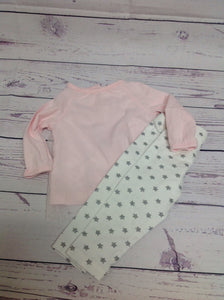 Carters White & Pink 2 PC Outfit