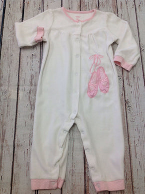 Carters White & Pink One Piece
