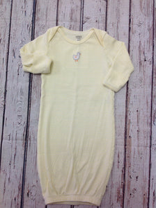 Carters White & Yellow Gown