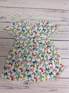 Carters White Print Dress
