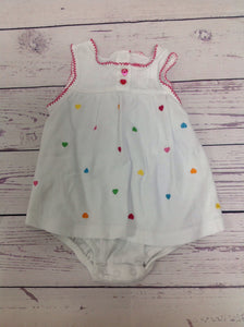 Carters White Print One Piece
