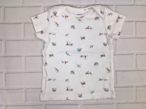 Carters White Print Top