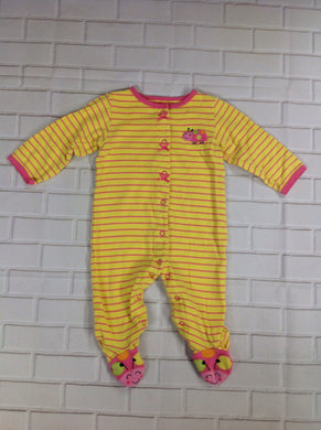 Carters Yellow Print One Piece
