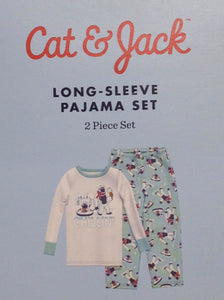 Cat & Jack Baby Blue & Cream Sleepwear