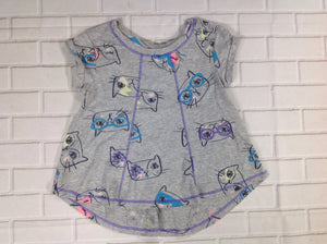 Cat & Jack GRAY PRINT Cats Top