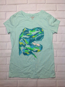 Cat & Jack Green Print Dinosaur Top