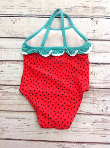 Cat & Jack Red & Green Swimwear
