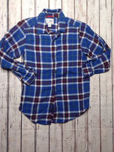 Faded Glory BLUE & GRAY Plaid Top