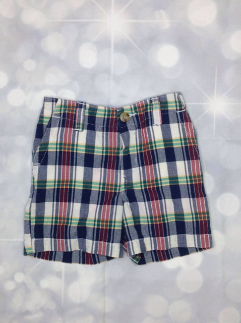 Chaps Blue & Beige Plaid Shorts