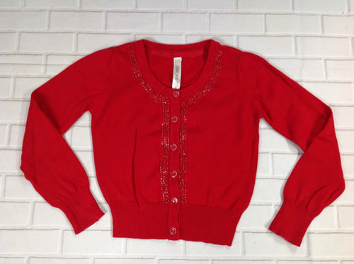 Cherokee Red Print Sweater