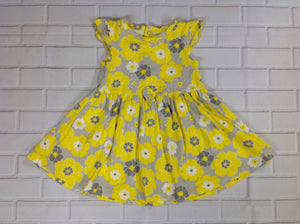 Child of Mine Gray & Yellow Dress