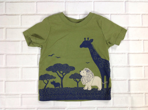 Child of Mine Green Print Top