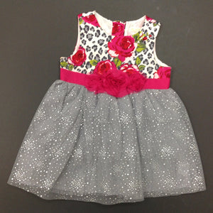 Children's Place Gray & Pink Dress